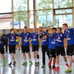 Die HSV-Männer vor dem Spiel.