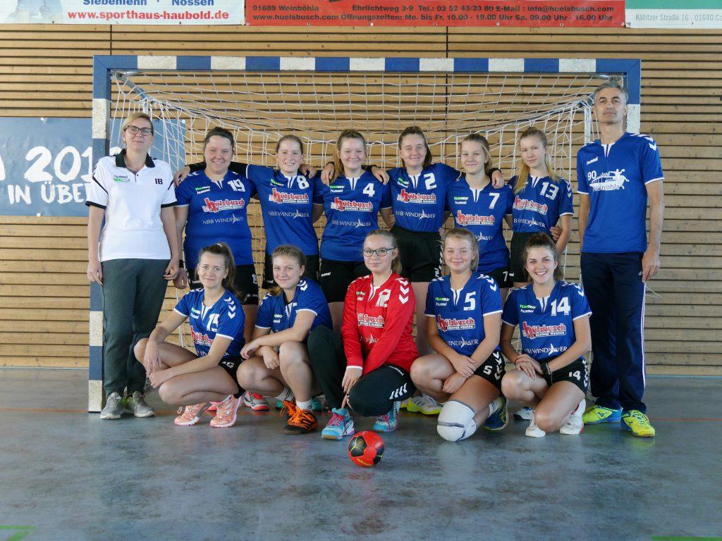 HSV Weinböhla, Weibliche C-Jugend, Bezirksliga Sachsen-Mitte, Saison 2019/20