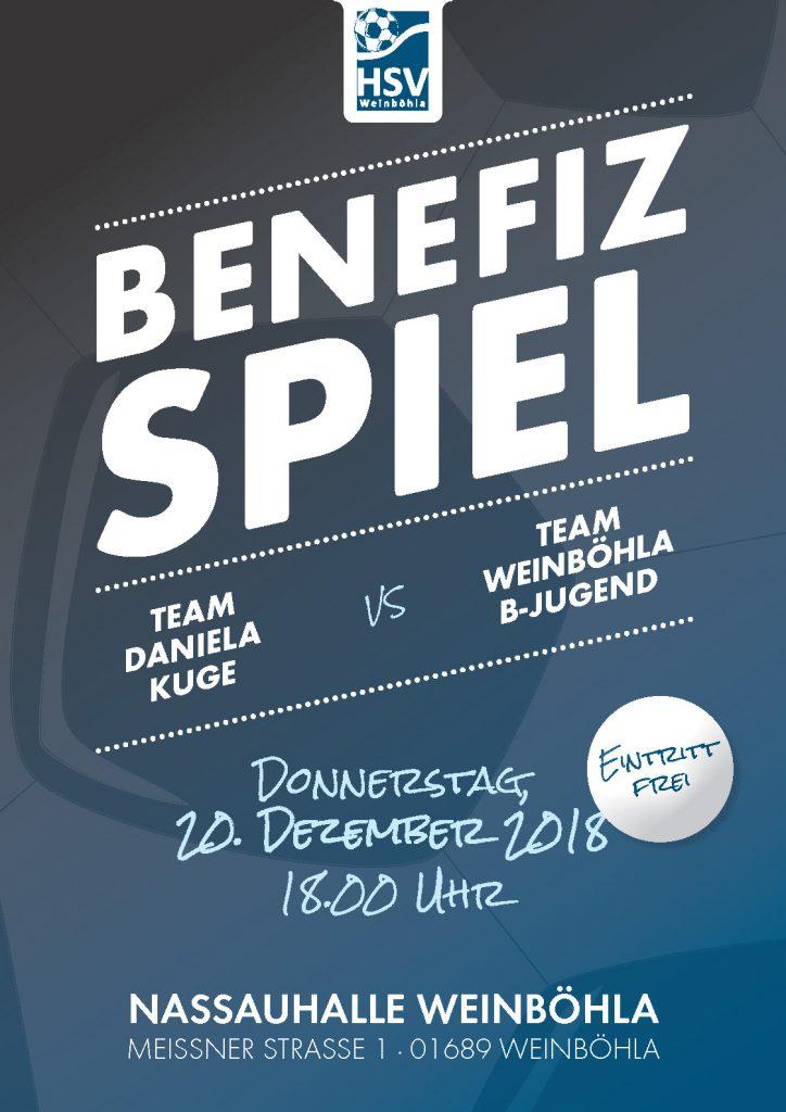 Plakat Benefizspiel am 20. Dezember 2018